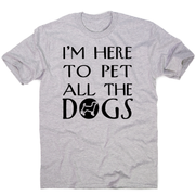 I'm here  funny dog t-shirt men's - Graphic Gear