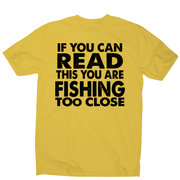 If you can read funny fishing t-shirt men's - Graphic Gear