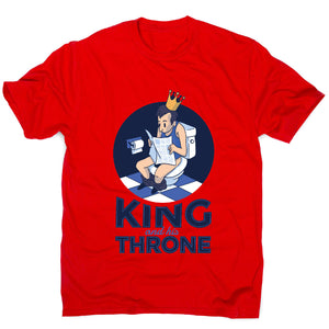 King throne - funny S men's t-shirt - Graphic Gear