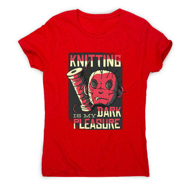 Knitting dark pleasure - women's funny premium t-shirt - Graphic Gear