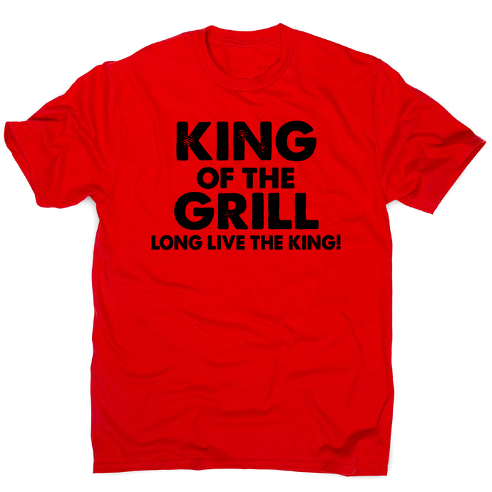 King of the grill funny BBQ t-shirt men's - Red / S - Graphic Gear
