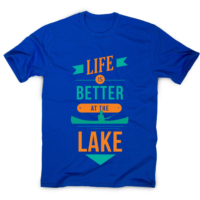 Life is better at the lake lake lover quote - men's t-shirt - Graphic Gear