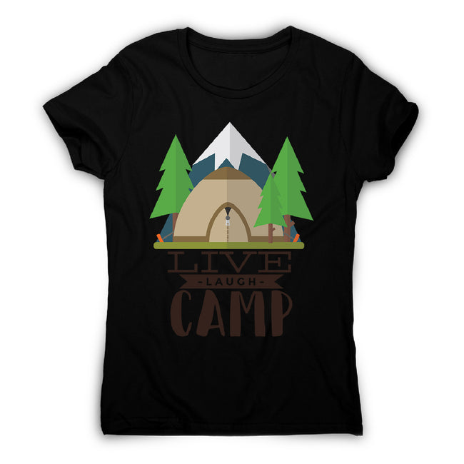Live laugh camp - women's funny premium t-shirt - Graphic Gear
