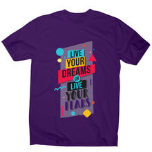 Load image into Gallery viewer, Live your dreams - motivational men's t-shirt - Graphic Gear