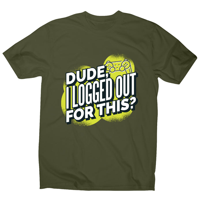 Logged out gamer - men's t-shirt - Military Green / S - Graphic Gear