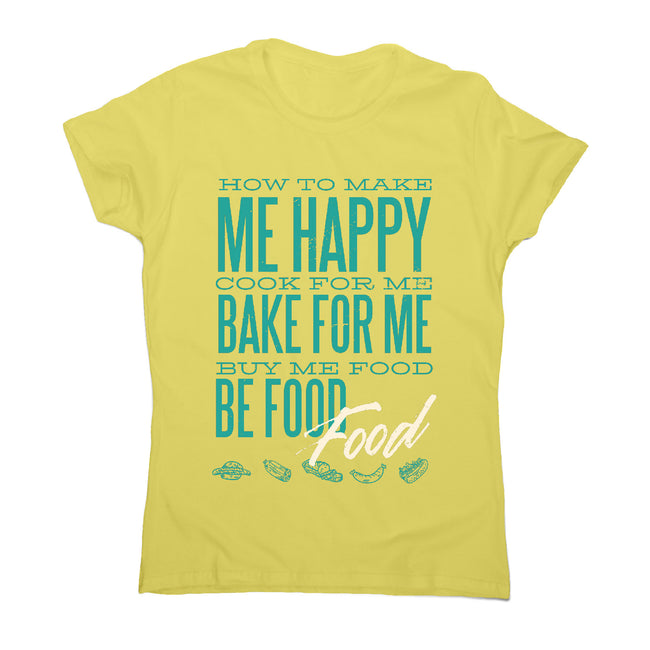 Love food - women's funny premium t-shirt - Graphic Gear