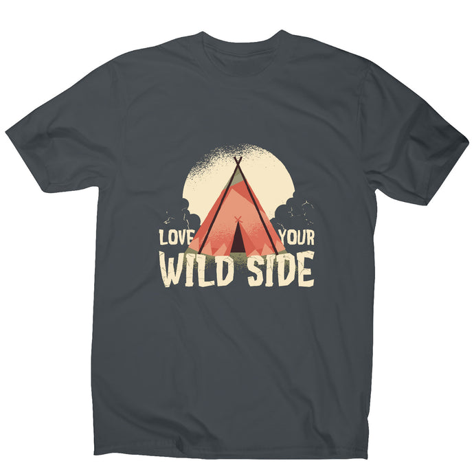 Love your wild side - outdoor camping men's t-shirt - Graphic Gear