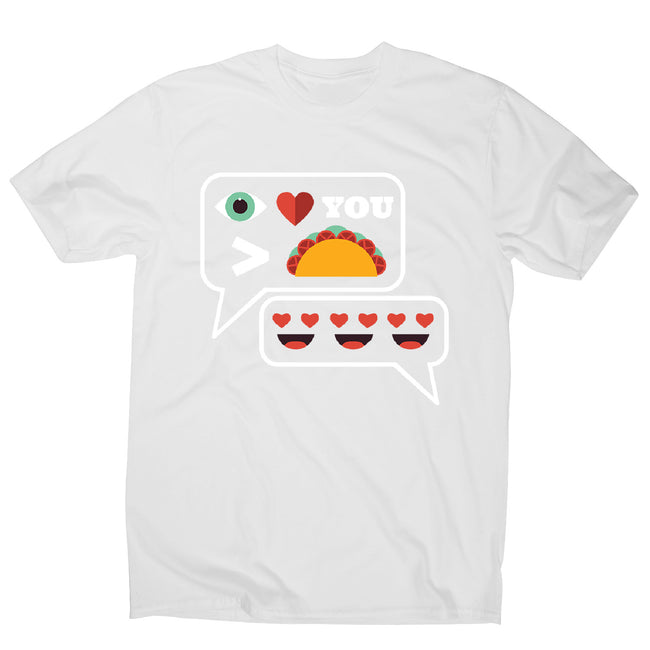 Love you more than tacos - men's funny premium t-shirt - Graphic Gear