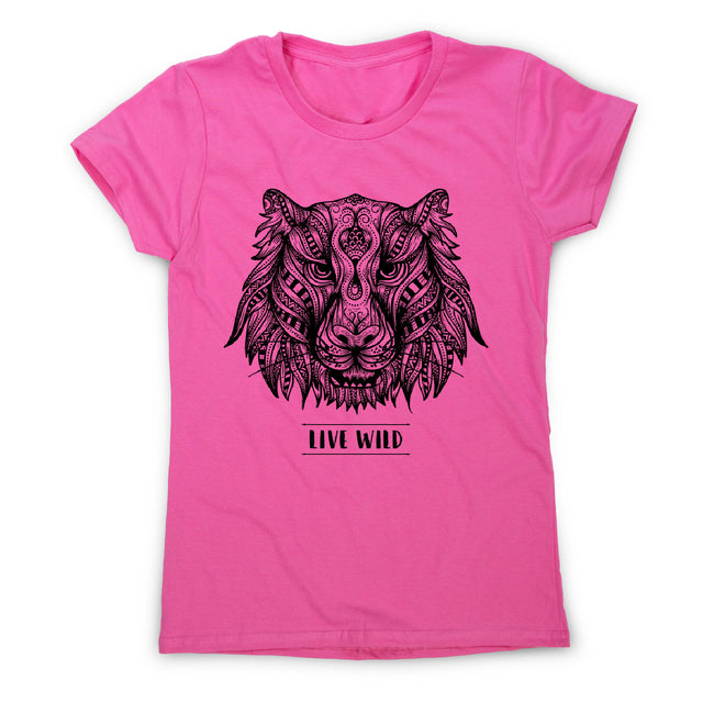 Mandala tiger - women's funny illustrations t-shirt - Graphic Gear