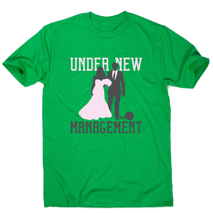 Marriage quote - men's t-shirt - Green / S - Graphic Gear