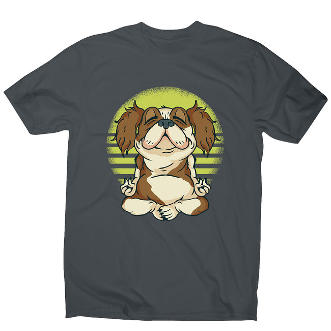 Meditaiting dog - men's funny premium t-shirt - Graphic Gear