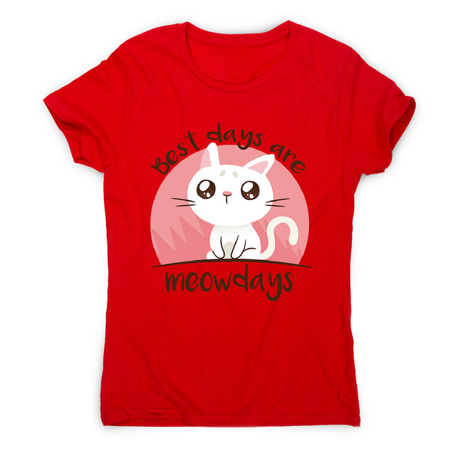 Meowdays cat - women's funny premium t-shirt - Graphic Gear