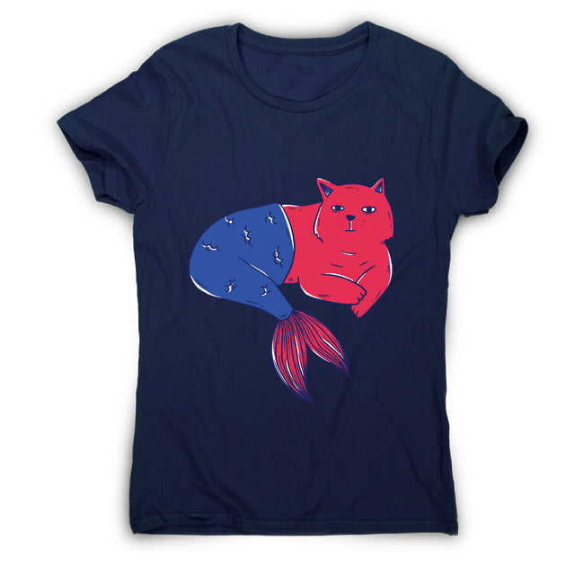 Mermaid cat - women's funny premium t-shirt - Graphic Gear