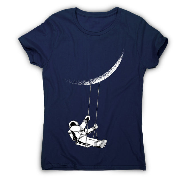Moon astronaut - women's funny premium t-shirt - Graphic Gear