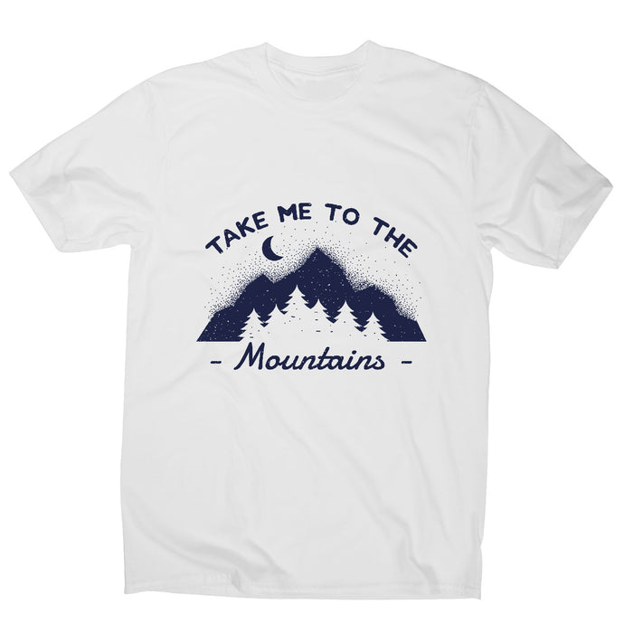 Mountain - outdoor camping men's t-shirt - Graphic Gear