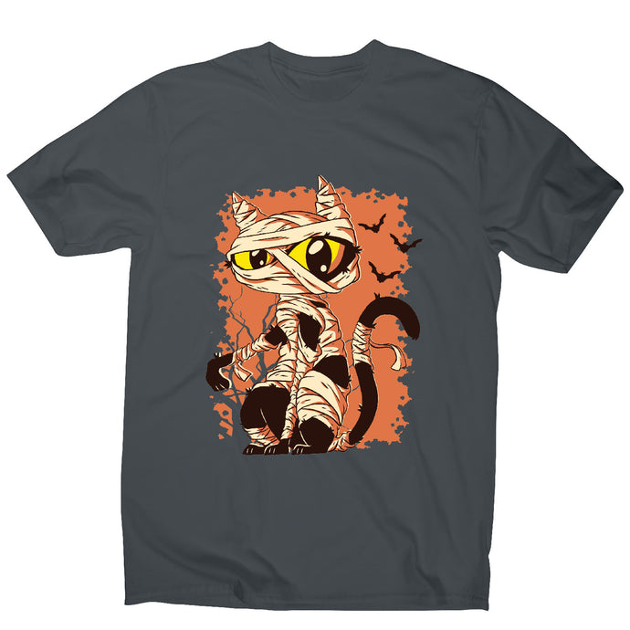 Mummy cat funny halloween cartoon men's t-shirt - Graphic Gear
