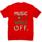 Music on - men's music festival t-shirt - Graphic Gear