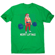 Merry liftmas funny gym Christmas t-shirt men's - Graphic Gear