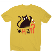 Murder cat funny scary t-shirt men's - Graphic Gear