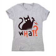 Murder cat funny scary t-shirt women's - Graphic Gear