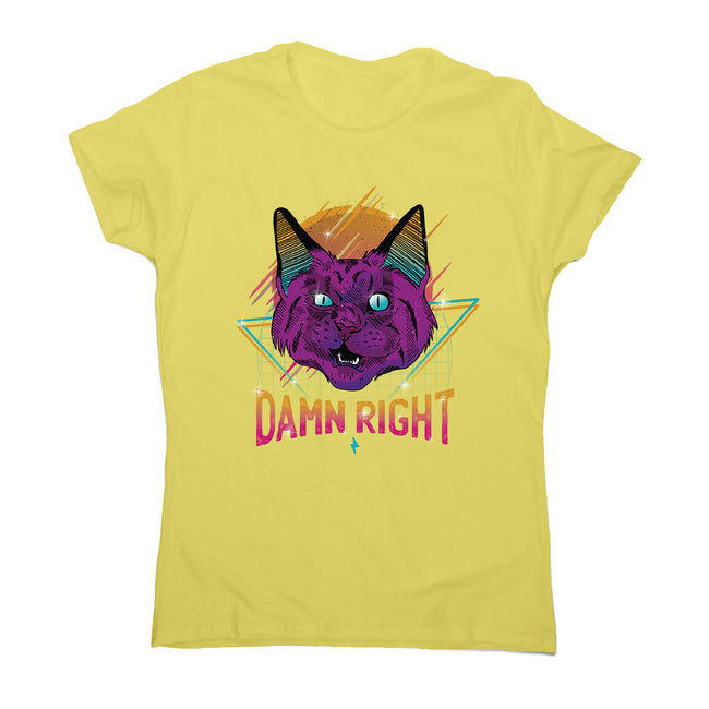 Neon party cat - women's funny premium t-shirt - Graphic Gear