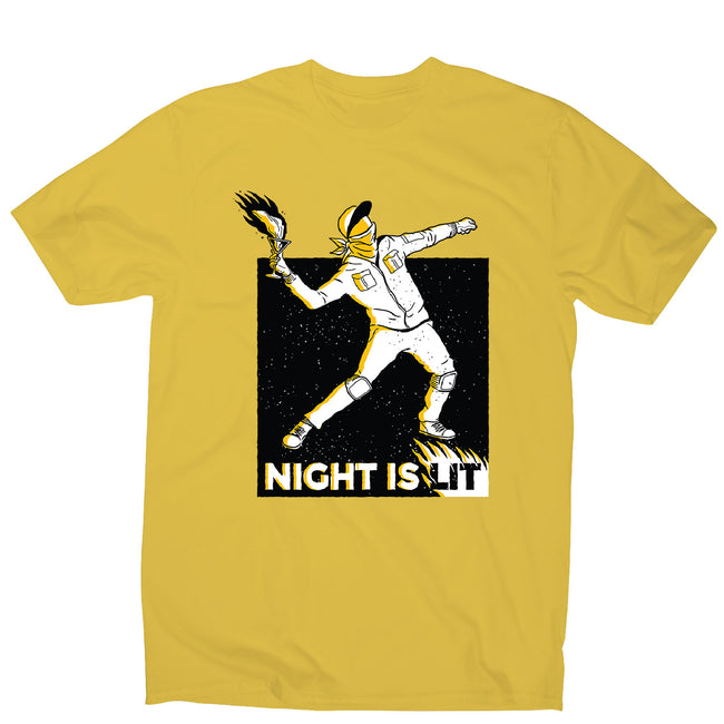 Night is lit - men's funny illustrations t-shirt - Graphic Gear