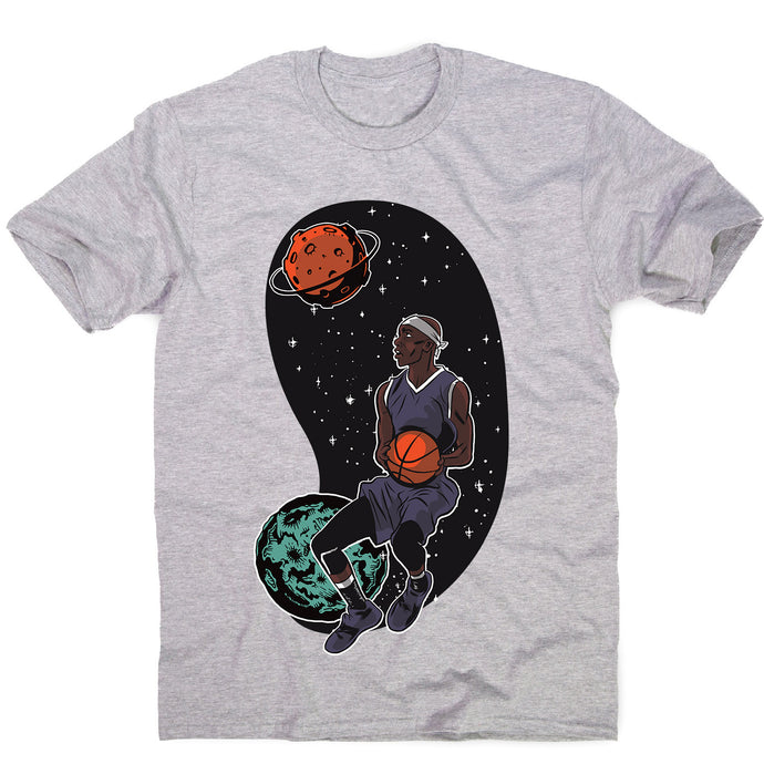 Outta space basketballer - men's funny illustrations t-shirt - Graphic Gear