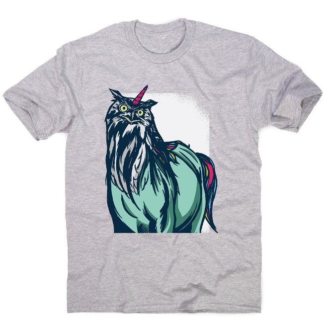 Owl unicorn - men's funny premium t-shirt - Graphic Gear