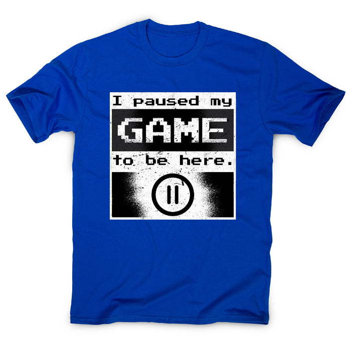 Paused gamer - men's t-shirt - Blue / S - Graphic Gear