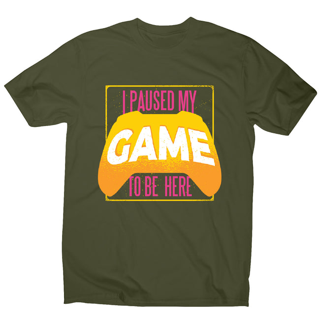 Paused game - men's funny premium t-shirt - Graphic Gear