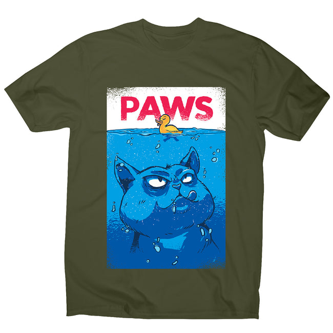 Paws - men's funny premium t-shirt - Graphic Gear