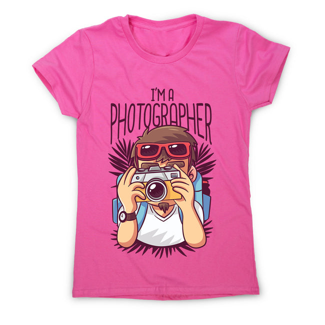 Photographer cartoon - women's funny premium t-shirt - Graphic Gear