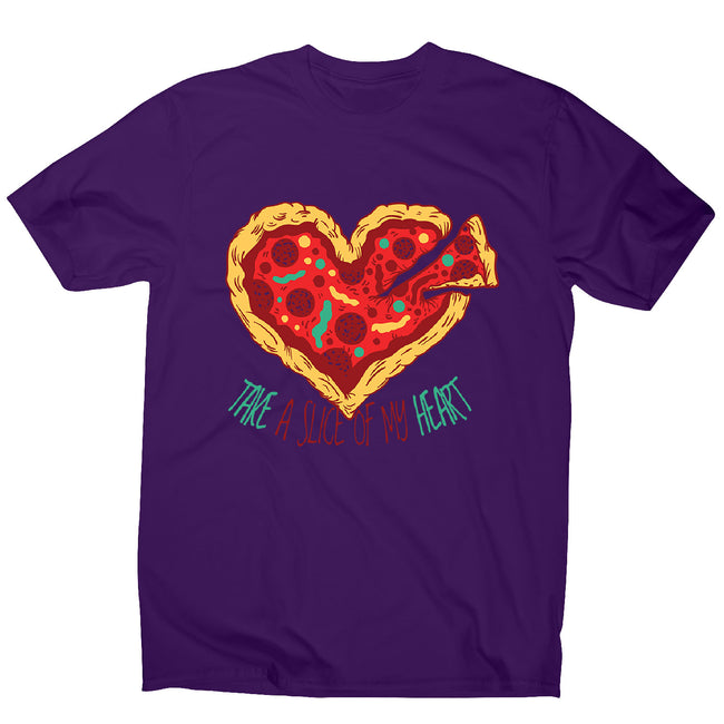 Pizza heart - men's funny illustrations t-shirt - Graphic Gear