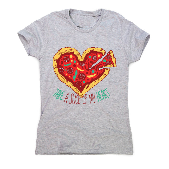 Pizza heart - women's funny illustrations t-shirt - Graphic Gear