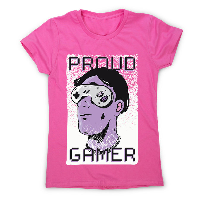 Proud gamer - women's funny premium t-shirt - Pink / S - Graphic Gear