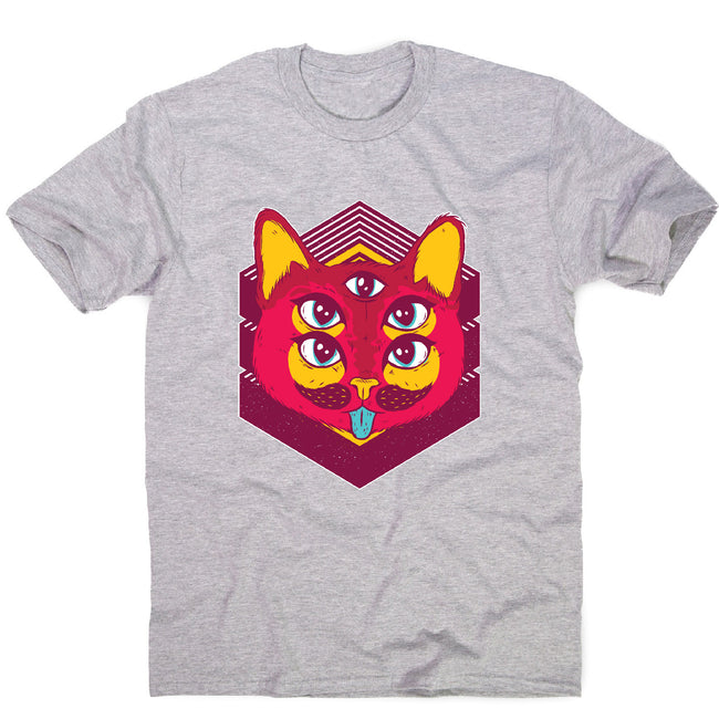 Psychedelic cat - illustration men's t-shirt - Graphic Gear