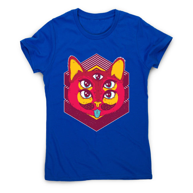 Psychedelic cat - illustration women's t-shirt - Graphic Gear