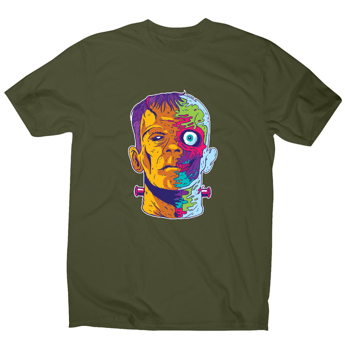 Psychedelic frankenstein - funny halloween men's t-shirt - Graphic Gear