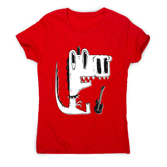 Punk rock dinosaur - women's funny premium t-shirt - Graphic Gear