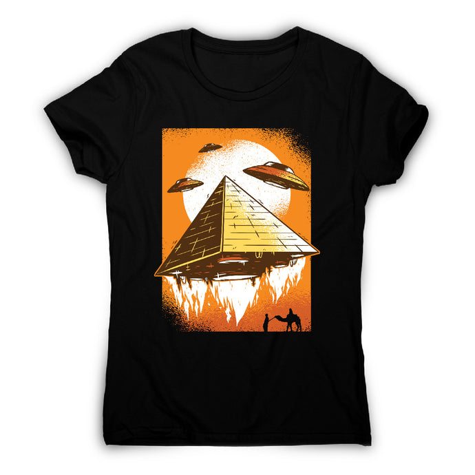 Pyramid ufo - funny ufo women's t-shirt - Graphic Gear