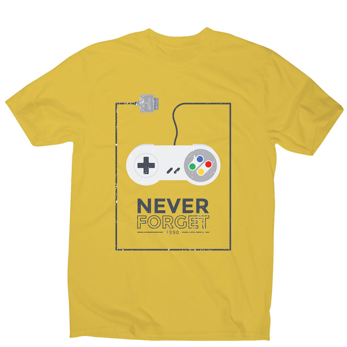 Retro joystick - men's funny premium t-shirt - Yellow / S - Graphic Gear