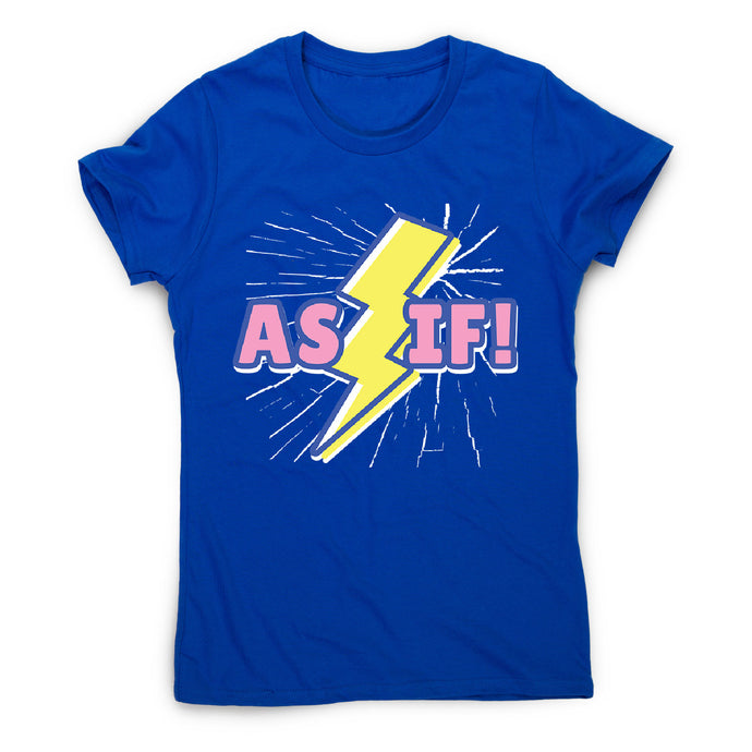 Retro lightning quote - women's funny premium t-shirt - Blue / S - Graphic Gear