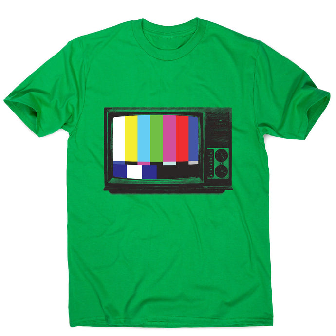 Retro tv - men's t-shirt - Green / S - Graphic Gear