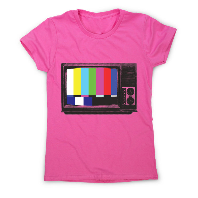 Retro tv - women's t-shirt - Pink / S - Graphic Gear
