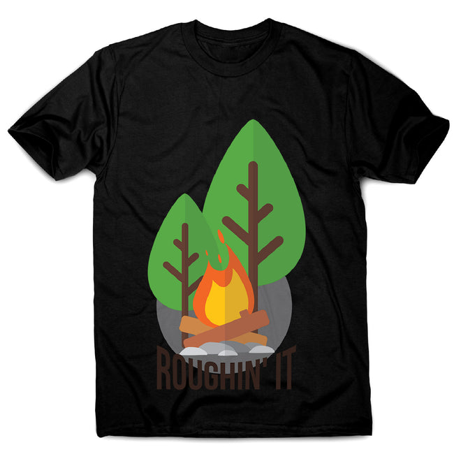 Rough camping - men's funny premium t-shirt - Graphic Gear