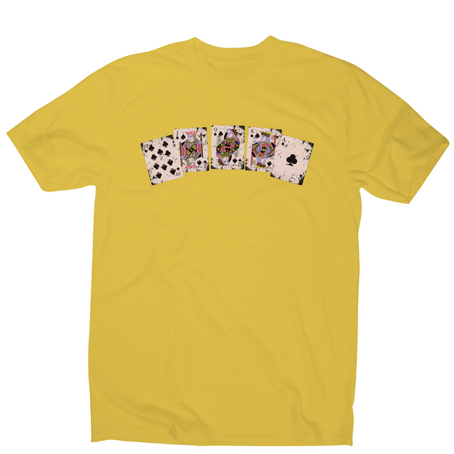 Royal flush awesome poker funny t-shirt men's - Graphic Gear