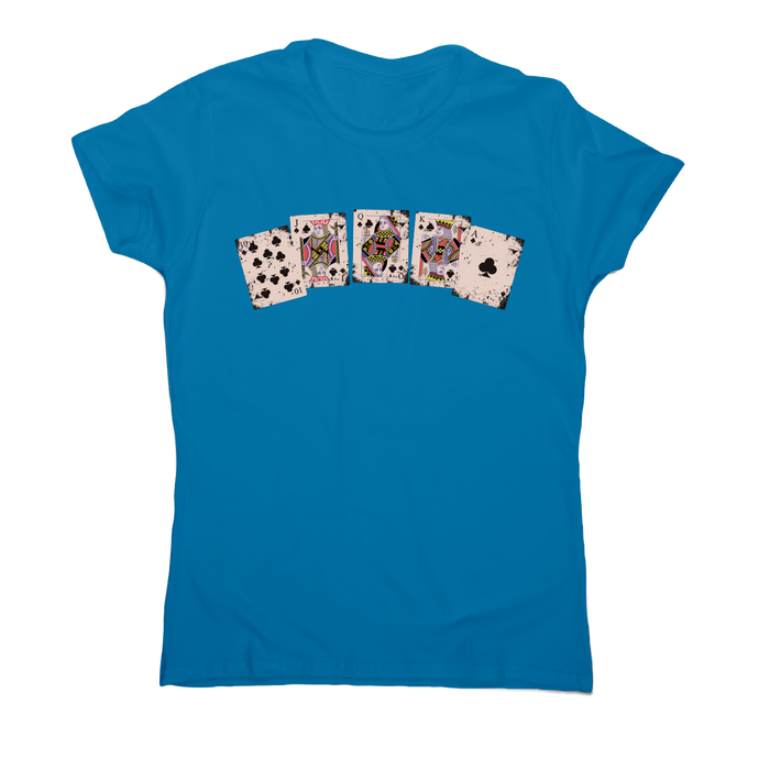 Royal flush awesome poker funny t-shirt women's - Graphic Gear