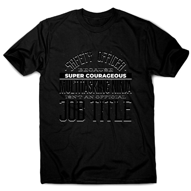 Safety officer profession - men's funny premium t-shirt - Graphic Gear