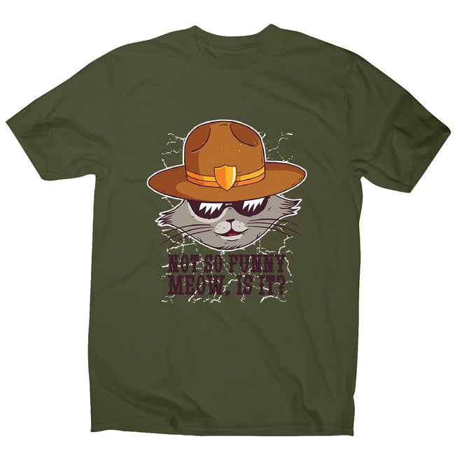 Sheriff cat - men's funny premium t-shirt - Graphic Gear