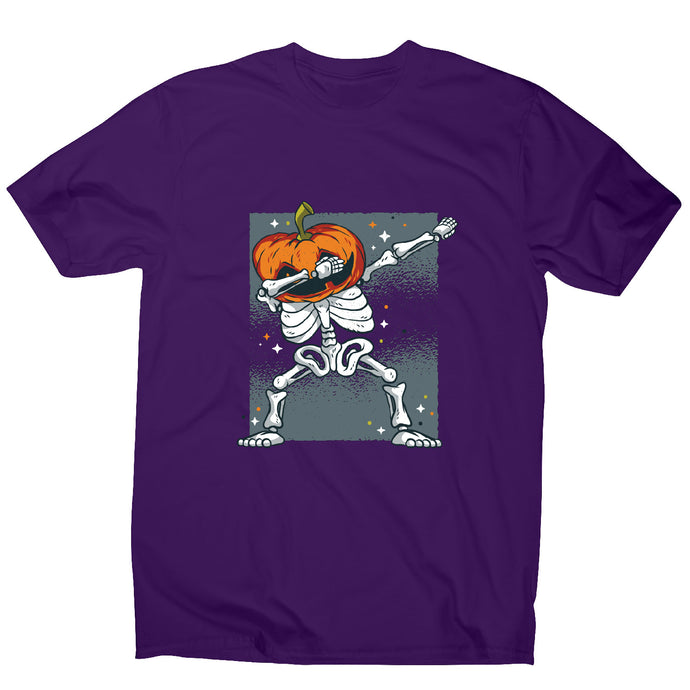 Skeleton dab - funny halloween men's t-shirt - Graphic Gear
